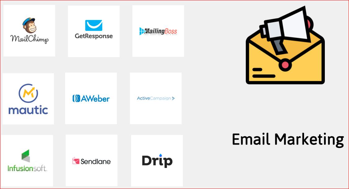 BuilderALL Tích Hợp Tất cả Email Marketing Nổi tiếng